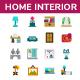 Home Interior Flat Icon Set - GraphicRiver Item for Sale