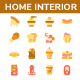 Food and Beverage Flat Icon set - GraphicRiver Item for Sale