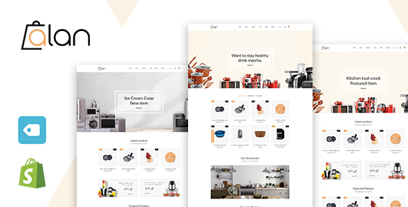 Alan - Kitchen Accessories Shopify Theme