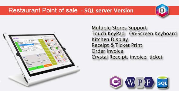 Restauracja Point of Sale - Rest POS - C # WPF SQL