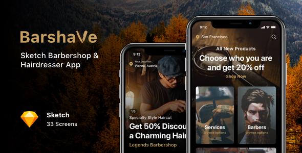 Barshave - Sketch Barbershop & Hairdresser App