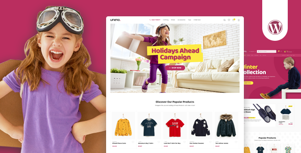 Uneno - Kids Clothing & Toys Store WooCommerce Theme