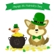 St. Patricks Day Dog in a Green Hat - GraphicRiver Item for Sale