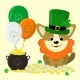 St. Patrick s Day Dog in Green Hat - GraphicRiver Item for Sale