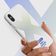 Phone X Plastic Case in Hands Mockups - GraphicRiver Item for Sale