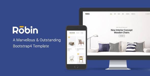 Robin - Furniture eCommerce Bootstrap4 Template