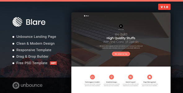 Blare - Business Unbounce Landing Page Template