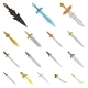 Isolated Object of Sword and Dagger Icons - GraphicRiver Item for Sale