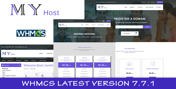 My Host WHMCS Hosting Template