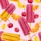 Ice Cream, Fruits and Berries Seamless Pattern - GraphicRiver Item for Sale