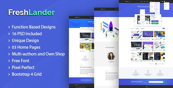 FreshLander - Marketplace for Easy Digital Downloads PSD Template