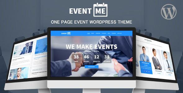 EventMe – Corporate Event Landing WordPress Theme