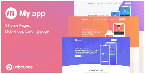 MyApp - Unbounce App Lead Generating Landing Page