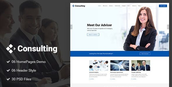 Consulting - Finance Joomla Template