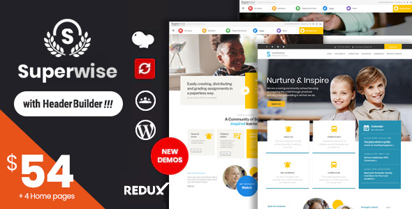 Superwise - Modern Education and Google Classroom WordPress Theme