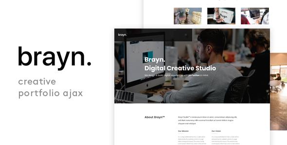 Brayn – Creative Portfolio Agency Ajax Template