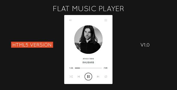 Flat HTML5 Music Player