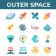 50 Space Exploration Icon Set - GraphicRiver Item for Sale