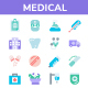50 Medical Flat Icon Set - GraphicRiver Item for Sale