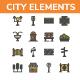 City Elements - Filled Outline - GraphicRiver Item for Sale