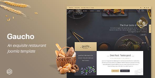Gaucho - Cafe Bistro Responsive Restaurant Joomla Template