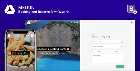 Melkin - Booking and Reserve Form Wizard