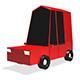 Low Poly City Car 3d Model V2 - 3DOcean Item for Sale