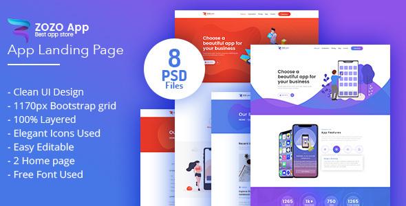 ZOZO-App Landing Page