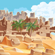 Desert and Palms City Ruins - GraphicRiver Item for Sale