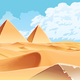 Desert and Palms with Pyramids on the Horizon - GraphicRiver Item for Sale