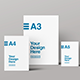 A3, A4 & A5 Front View Mockup - GraphicRiver Item for Sale