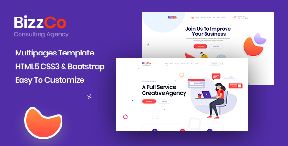Bizzco – Consulting Agency Company Template