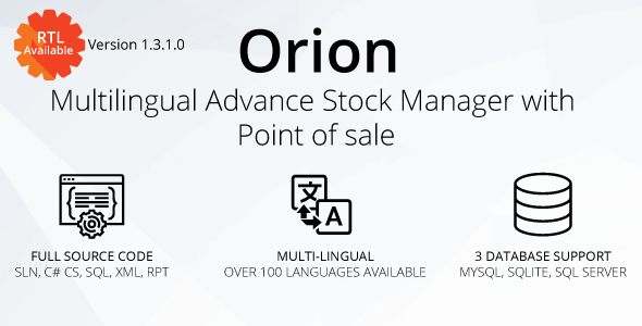 Orion - Multilingual advance stock manager with Point of sale system