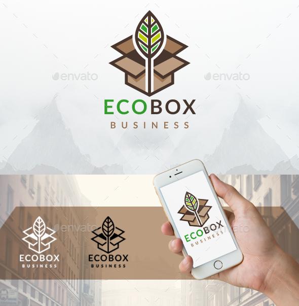 Eco Box Logo Template