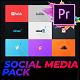 Flat Social Media Pack For Premiere Pro   Mogrt - VideoHive Item for Sale