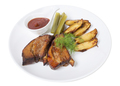 Roast pork ribs with potatoes and pickles. - PhotoDune Item for Sale