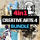 4-in-1 Creative Arts Bundle Photoshop Action v4 - GraphicRiver Item for Sale