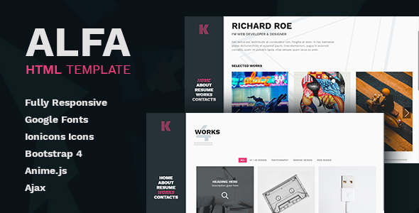 Alfa - Personal Portfolio and Virtual Business Card