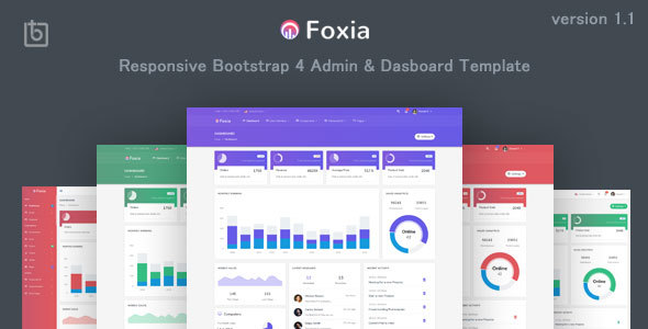 Foxia - Admin & Dashboard Template