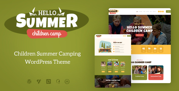 Hello Summer | A Children Holiday Camp WordPress Theme