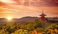 Kiyomizudera temple at sunset, Kyoto, Japan - PhotoDune Item for Sale