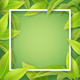 Green Mellow Leaves and White Frame - GraphicRiver Item for Sale