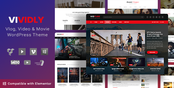 Video Blog & Personal Vlog, Video WordPress Theme | Vividly