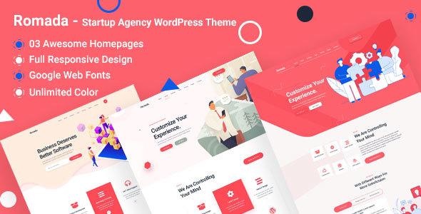 Romada - Startup Creative Digital Agency WordPress Theme