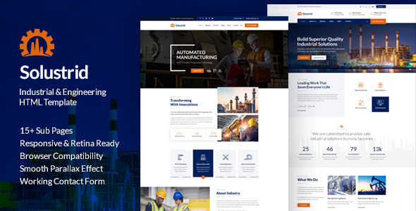 Solustrid – Factory & Industrial Business HTML Template