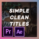 Simple Titles is Simple Titles - VideoHive Item for Sale