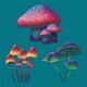 Fantasy Mushrooms Set - GraphicRiver Item for Sale
