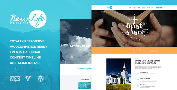 New Life | Church & Religion WordPress Theme