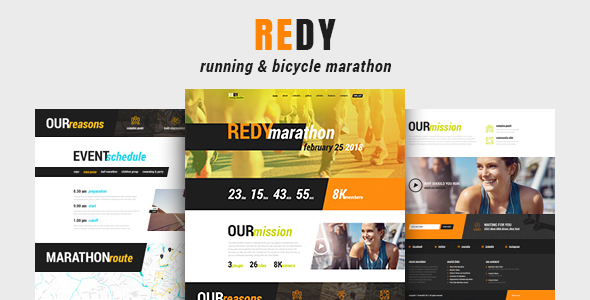 Redy | Marathon & Running Sports WordPress Theme