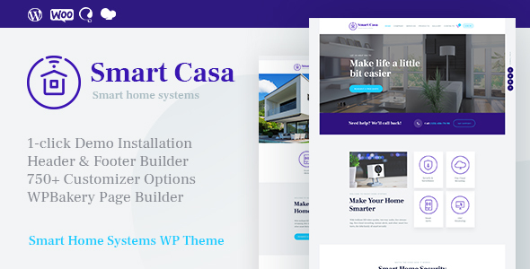 Smart Casa | Home Automation & Technologies WordPress Theme